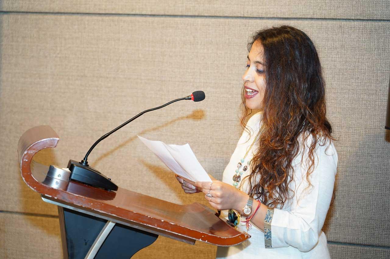 Vote-of-thanks-by-Manisha-Jain,-Ehsaas-woman-of-Chandigarh